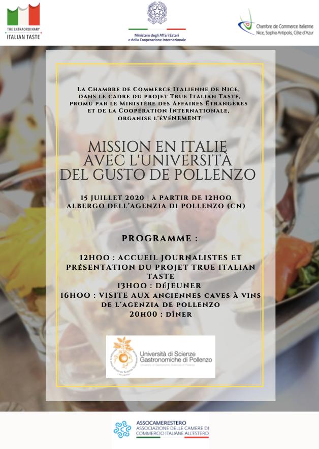 True Italian Taste in missione a Pollenzo per un percorso di degustazione presso l'Università del Gusto