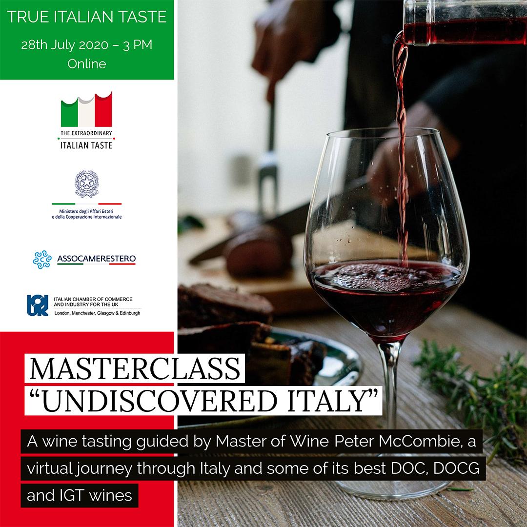 "Masterclass ""Undiscovered Italy"""