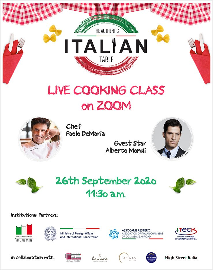 Authentic Italian Table - Live cooking class