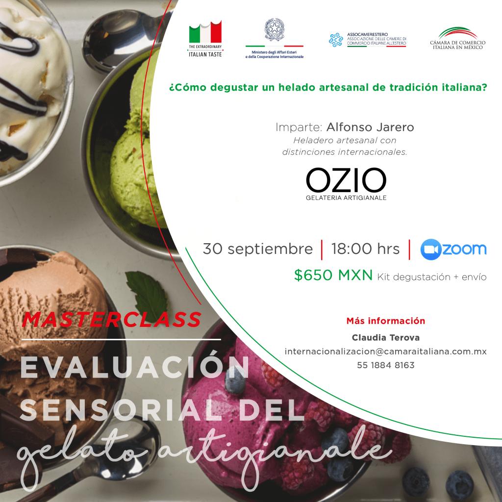 Masterclass True Italian Taste: Evaluación sensorial del gelato artigianale