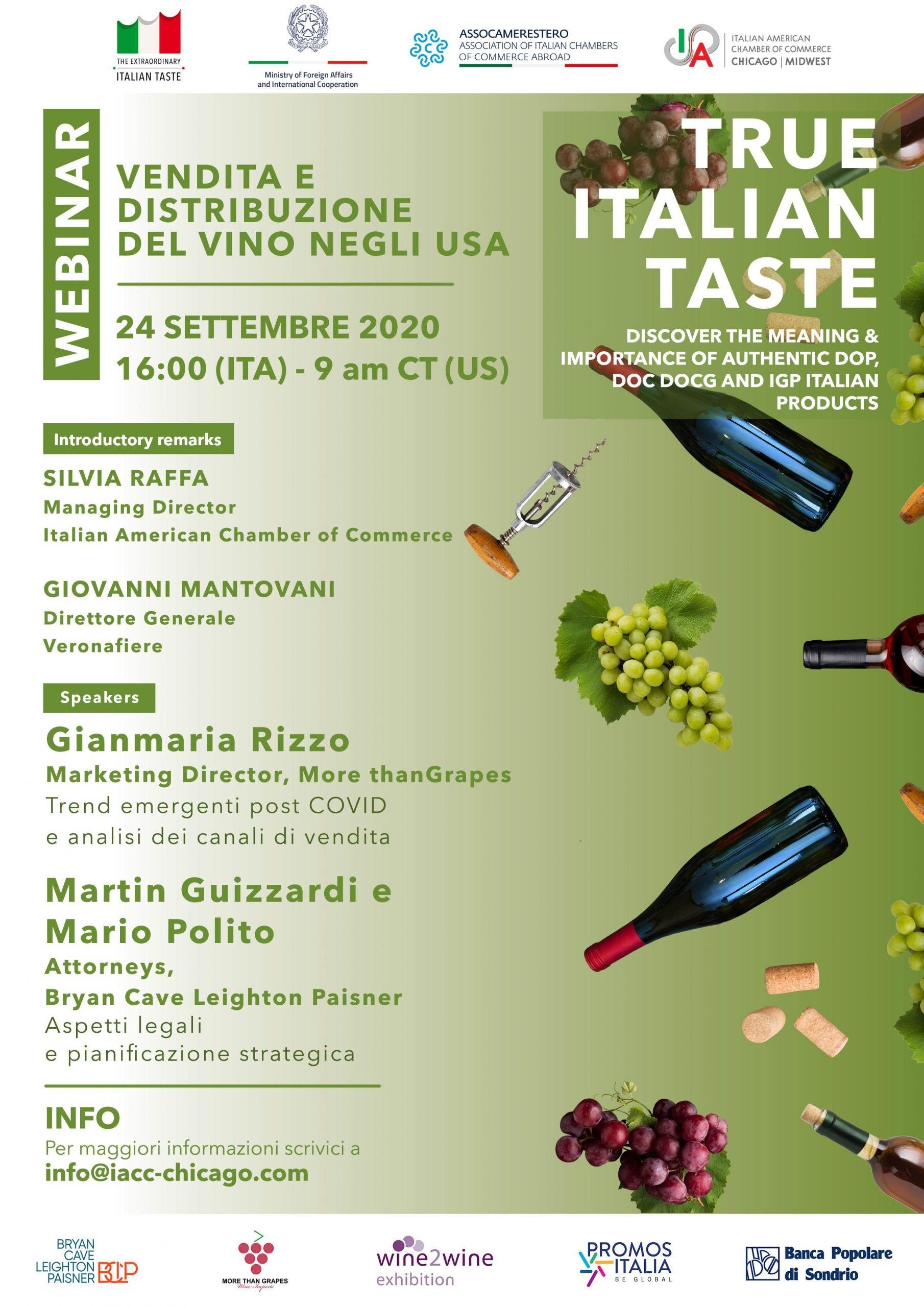 """Webinar """"Vendita e distribuzione del vino negli USA"""""""
