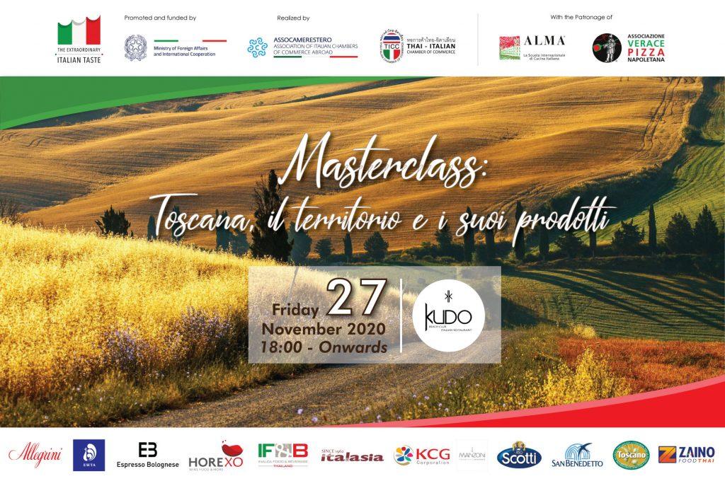 """Masterclass """"Toscana, il territorio e i suoi prodotti"""""""