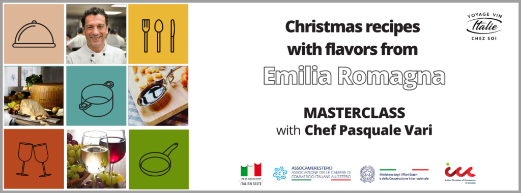 """Masterclass """"Christmas recipes with flavors from Emilia Romagna"""" with Chef Pasquale Vari"""