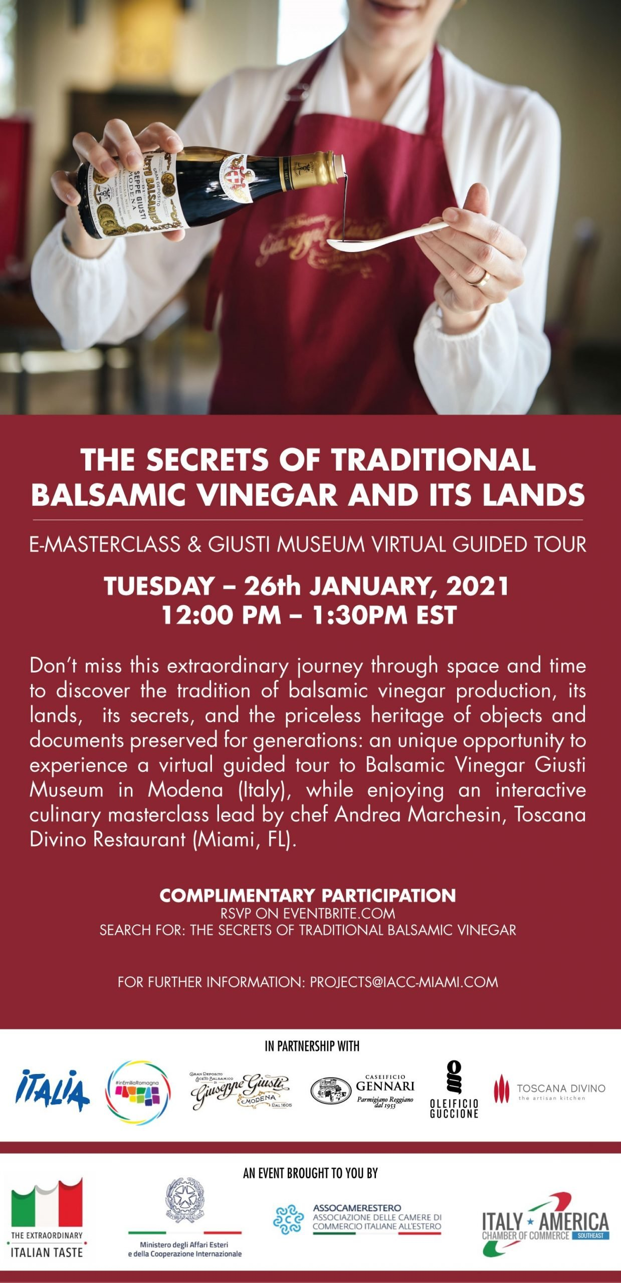E-Masterclass: The Secrets of Traditional Balsamic Vinegar and Its lands