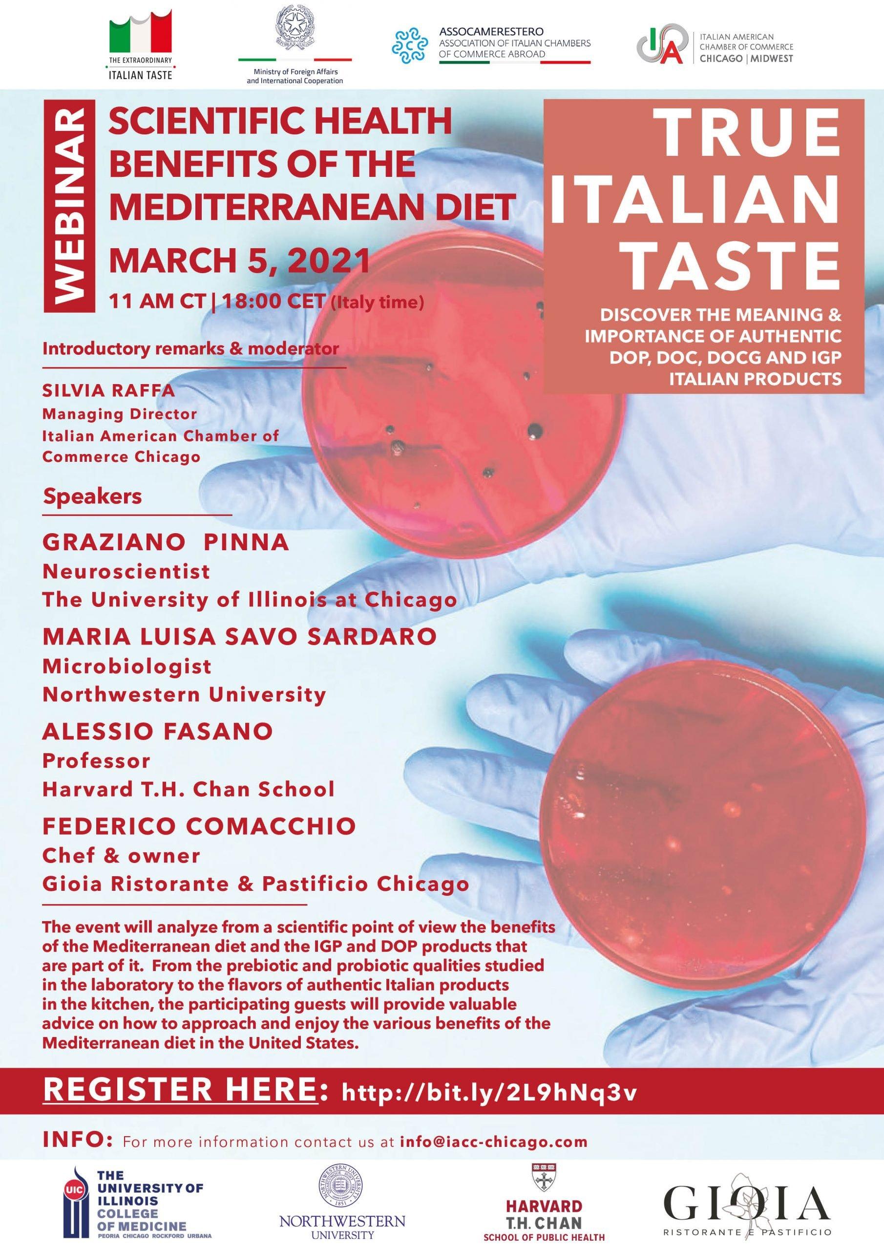 """Webinar: """"Scientific health benefits of the Mediterranean diet"""""""