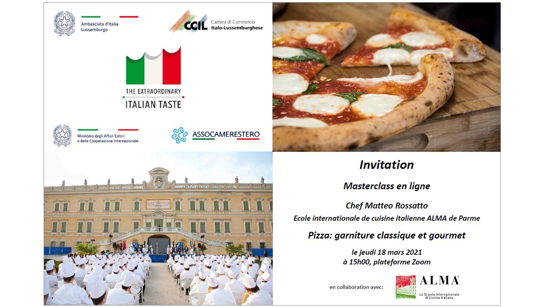 "Masterclass ""Pizza: garniture classique et gourmet"""