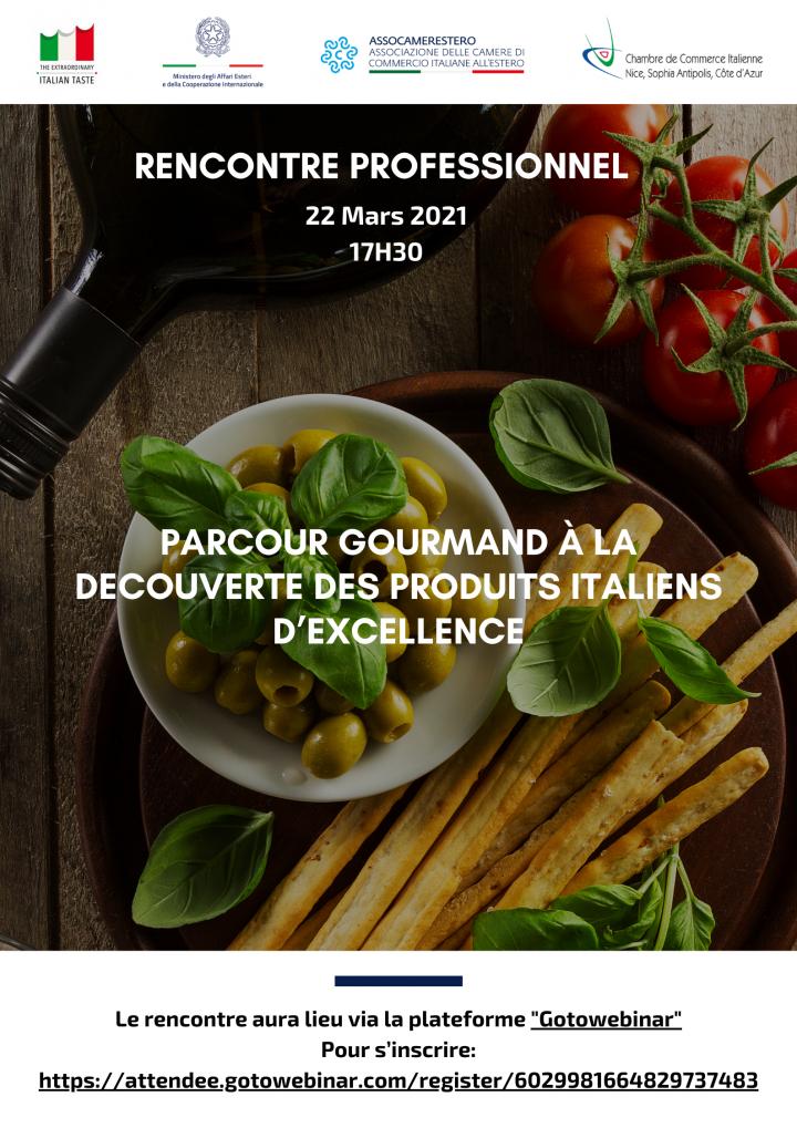 Rencontre professionnel: parcours gourmand à la decouverte des produits italiens d'excellence