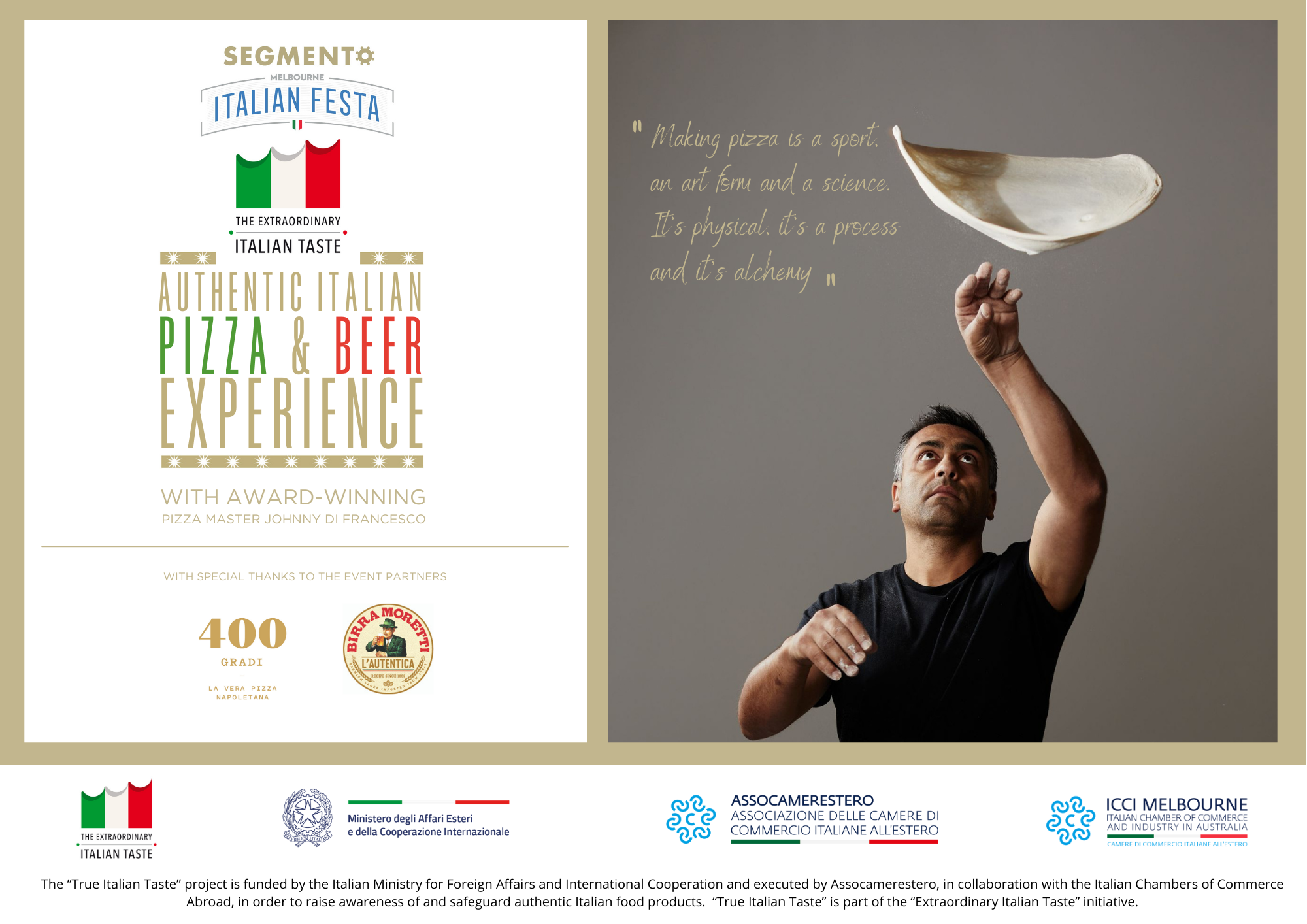 "Masterclass ""Authentic Pizza and Beer Experience"""