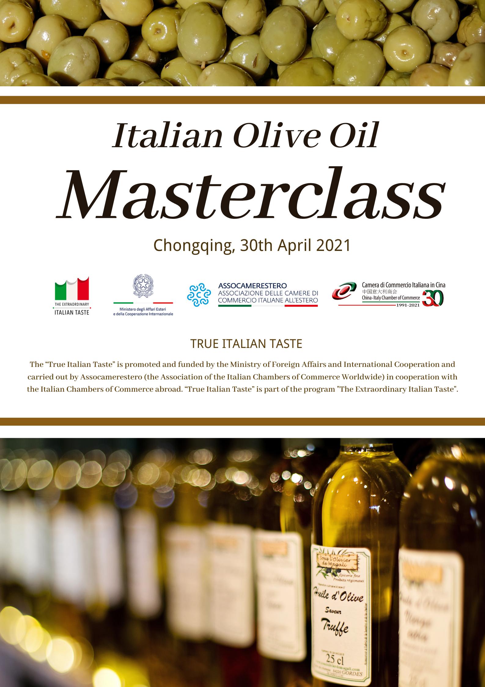 Masterclass - Italian Olive Oil in Chongqing