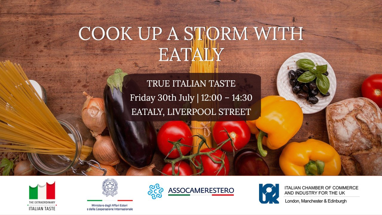 """Masterclass """"Cook up a storm with Eataly"""""""