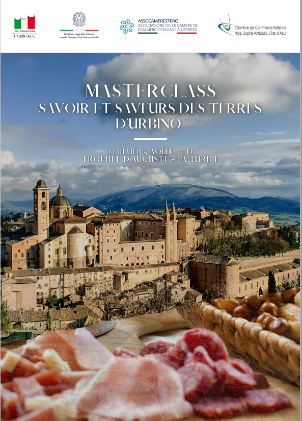 "Masterclass ""Savoir et saveurs des terres d'Urbino"""