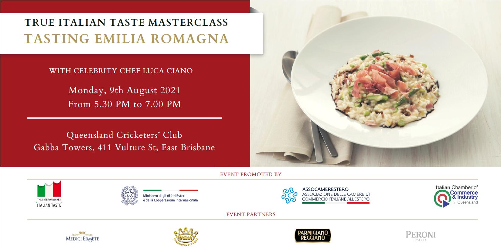 """Masterclass """"Tasting Emilia Romagna"""""""